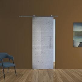 Porta da interno scorrevole Cemento 88 x H 215 cm sx