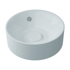 Lavabo da appoggio tondo Capsule ø 38 x 13 cm bianco