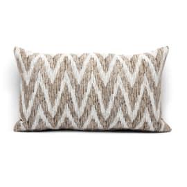 Fodera per cuscino Zig zag marrone 30 x 50 cm