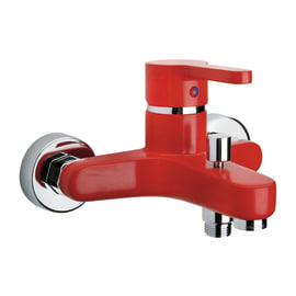 Miscelatore vasca Colors rosso