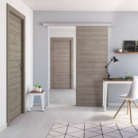 Porta da interno battente One gray Cenere 80 x H 210 cm reversibile
