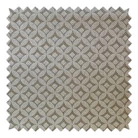 Tessuto su ordinazione Panama Gaia geometrico bianco