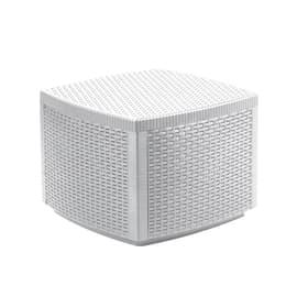 Tavolino Contenitore lipari, 53 x 53 cm bianco