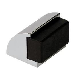 Fermaporta adesivo nero e grigio inox