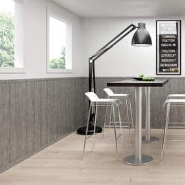 Perlina mdf rivestito grigio loft 8 x 200 x 2180 mm