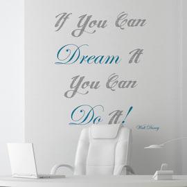Sticker Words Up L Dream it & do it