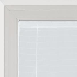 Tendina a vetro regolabile per portafinestra Klimt bianco 58 x 230 cm