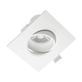 Faretto da incasso bianco LED integrato orientabile quadrato 10,5 x 10,5 cm 10 W = 700 Lumen luce naturale