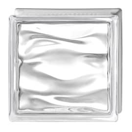 Vetromattone Prestige Agua trasparente ondulato 19 x 19 x 8 cm