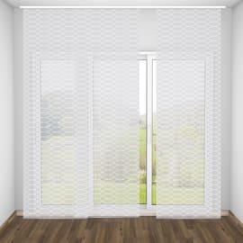 Tenda a pannello resinato Onde bianco 60 x 300 cm