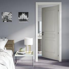 Porta da interno battente Chelsea bianco 80 x H 210 cm dx