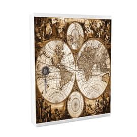 Bacheca porta chiavi Mia Key mondo 16 posti Fantasia 24,3 x 5 x 31,5 cm