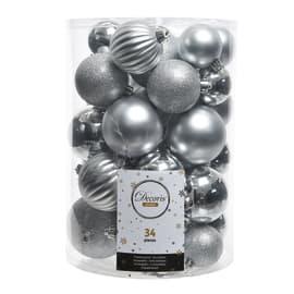Box sfere argento misure assortite