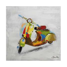 quadro dipinto a mano Vespa color 60x60