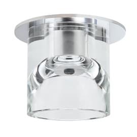 Faretto fisso da incasso tondo Glassy tube in vetro, bianco, diam. 8.3 cm G4 MAX20W IP20 1 pezzi