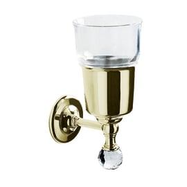 Bicchiere porta spazzolini Madras oriente in vetro trasparente