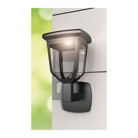 Applique Solare 200lm LED integrato in acciaio inossidabile nero 2.2W 200LM IP44 XANLITE