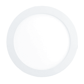 Faretto fisso da incasso tondo Fueva-C in metallo, bianco, diam. 22.5 cm LED integrato 15,6W 2000LM IP20 EGLO