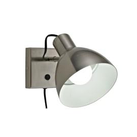 Applique Huvud nickel, in metallo, E27 MAX40W IP20 INSPIRE