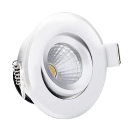 Faretto fisso da incasso orientabile tondo LMS1.3BIW in plastica, bianco, diam. 6.8 cm LED integrato 3W 18LM IP20
