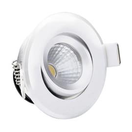 Faretto orientabile da incasso orientabile tondo LMS1.3BIW in plastica, bianco, diam. 6.8 cm LED integrato 3W 18LM IP20