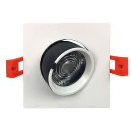 Faretto fisso da incasso quadrato 0TBEXB-S1X12W in plastica, bianco, LED integrato 10W 600LM IP20