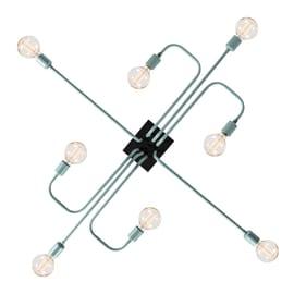 Lampadario Arrow blu pastello, in metallo, E27 8x60W IP20