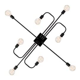Lampadario Arrow nero, in metallo, E27 8x60W IP20