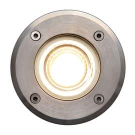 Faretto da incasso da esterno in alluminio , nero, diam. 11 cm 11x5cm LED integrato IP67 INSPIRE