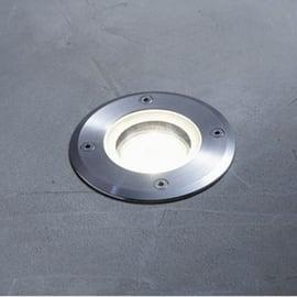 Faretto da incasso da esterno tondo Atlanta in alluminio inox  diam. 11 cm 0x15cm GU10 28W IP67: protetto dagli effetti dell'immersione INSPIRE