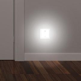 Faretto da incasso da esterno quadrato Turn me light LED integrato in plastica, bianco, 0,4W Calo del flusso luminoso secondo L70B10LM IP20
