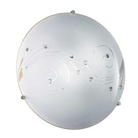 Plafoniera Lido bianco, in vetro, diam. 30 cm, E27 MAX60W IP20