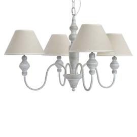 Lampadario Romance beige, grigio, in metallo, diam. 70 cm, E14 4xMAX40W IP20