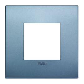 Placca VIMAR Arké 2 moduli blu