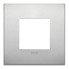 Placca VIMAR Arké 2 moduli alluminio naturale