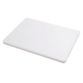 Tagliere polietilene professionale bianco L 30 x H 1.8 cm