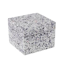 Porta cotone Terrazo in poliresina bianco grigio SENSEA