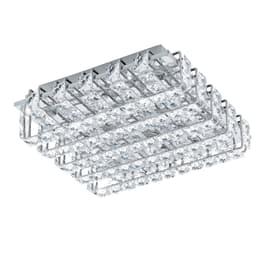 Plafoniera Lonzaso trasparente, in cristallo, 29x29 cm, LED integrato 3.3W IP20