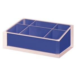 Organizer bagno Rainbow L 19 x H 7.5 cm blu