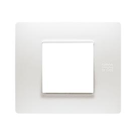 Placca SIMON URMET Nea Flexa 2 moduli bianco