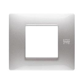 Placca SIMON URMET Nea Flexa 2 moduli alluminio