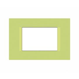 Placca FEB Flat 3 moduli pistacchio n°5
