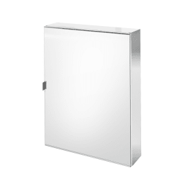 Specchio contenitore senza luce Remix L 60 x P 14 x H 75 cm cromo Sensea