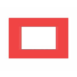 Placca FEB Flat 3 moduli rosso n°5