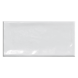 Piastrella Alfaro L 7.5 x H 15 cm bianco