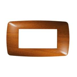Placca FEB Flexi Brio 4 moduli legno scuro