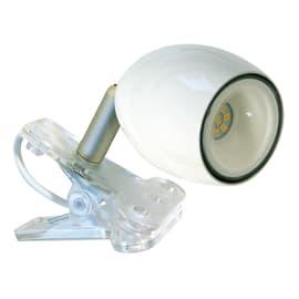 Lampada da scrivania con pinza Kikiled bianco, in acciaio, LED integrato 2W