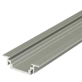 Profilo per strisce led, in alluminio, grigio / argento, 2 m