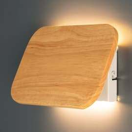 Applique Switchy in legno, 25x16 cm, LED integrato 5W 400LM IP20 INSPIRE