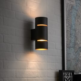 Applique Tubbo nero/rame, in metallo, 20 cm, LED incassato 5W IP20 INSPIRE